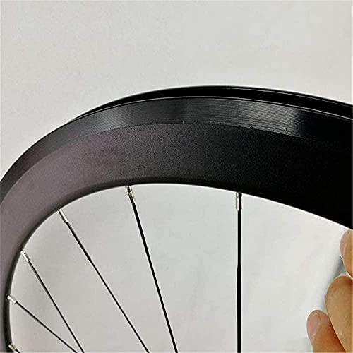 Súper ligero Road Bike Wheelset 700C 40mm Rueda delantera Conjunto de ruedas trasero Disc RIM V-Freno Palin Rodamientos Hub Lanzamiento rápido 20/24 Agujeros FreeWheel RIM 7-12 Velocidad 1 Bike W