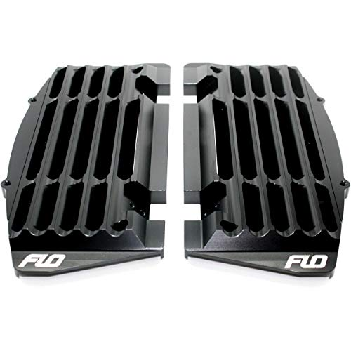 FLO Motorsports High Flow Radiator Braces (Black) for 16-20 KTM 250SX