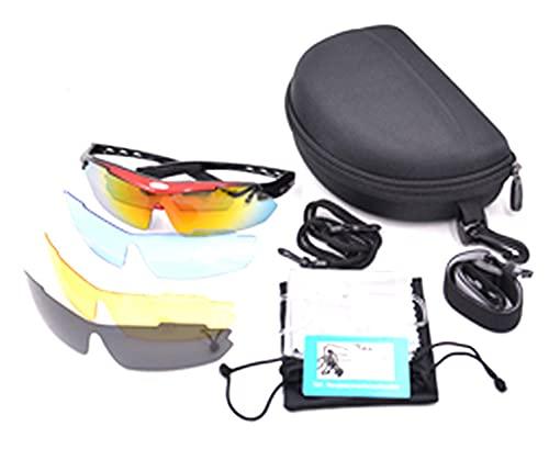 ZHMIAO Gafas 12 Piezas Conjuntos de Gafas de Sol polarizadas para Hombres Mujeres, Gafas de Ciclismo Que Corre la Pesca de la Pesca Gafas de Golf Red Wine