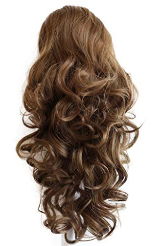 PRETTYSHOP 45cm Haarteil Zopf Pferdeschwanz Haarverlängerung Voluminös Gewellt Braun PH21
