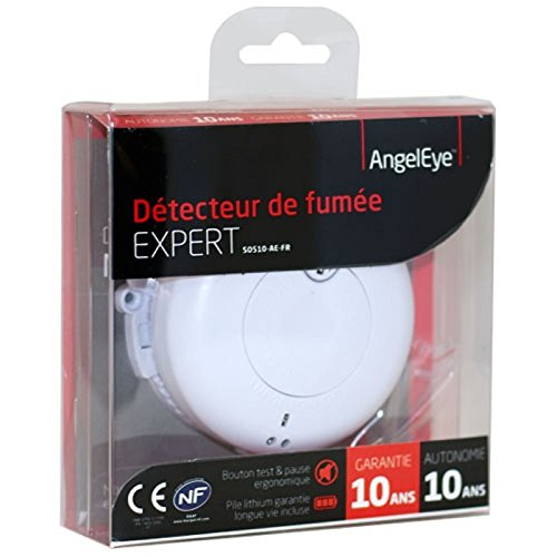 DETECTEUR DE FUMEE AngelEye NF EXPERT SO510-AE-FR - Autonomie 10 ans - NF et CE