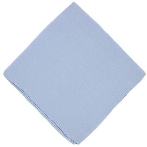 Un mouchoir en soie bleue claire unie Michelsons