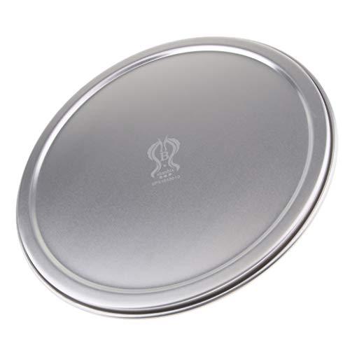 B Blesiya Couvercle Rond D'alliage D'aluminium pour Servir Le Plat Bakeware De Plateaux De Pizza Antipoussière - 12 Pouces