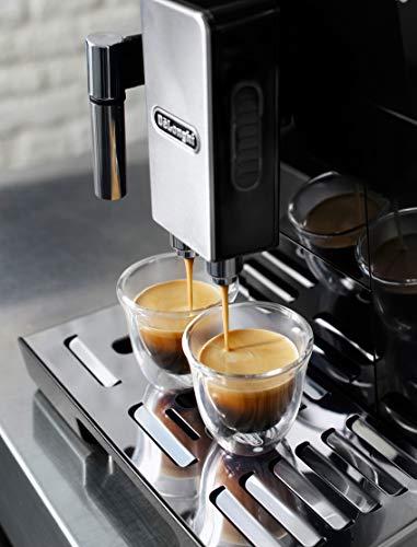 デロンギ ハイエンドモデル コンパクト全自動コーヒーメーカー エレッタ カプチーノ ブラック ECAM45760B