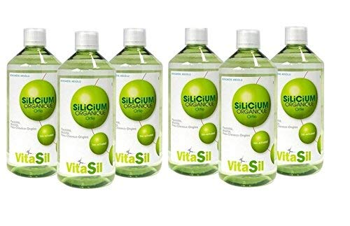 Vitasil - Silicium organique buvable bio-activated - 6 x 500 ml flacon