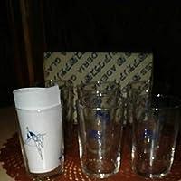 アデリア グラス 遊星仮面 パピィ グリコ牛乳 グラス 6客