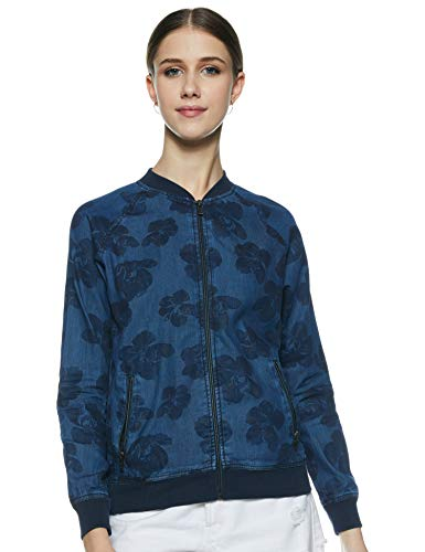Pepe Jeans Women's Jacket (PL401621F04_Navy Blue_L)