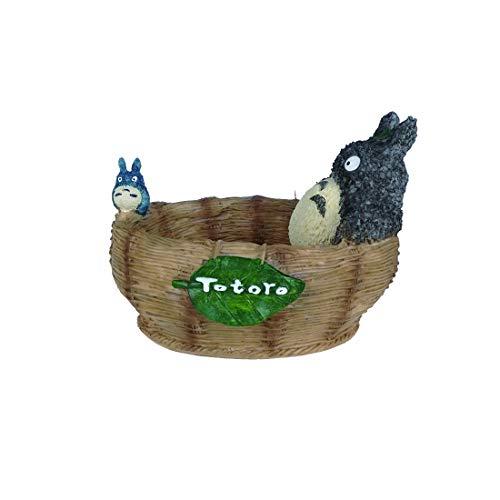 CoolChange Bonita cesta Totoro   Ideal como maceta o cuenco para llaves   Resina   14 x 10 x 11 cm
