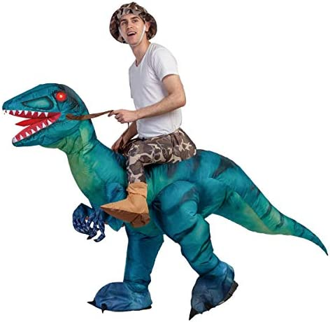 GOOSH Riding dinosaur costumes for adults inflatable Blow up Halloween T Rex Costume inflatable product image