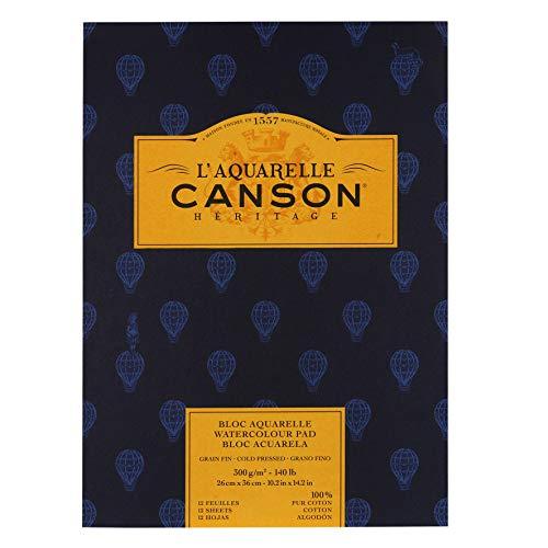 L'Aquarelle Canson Heritage Cold Press Watercolor Paper 140 Lb