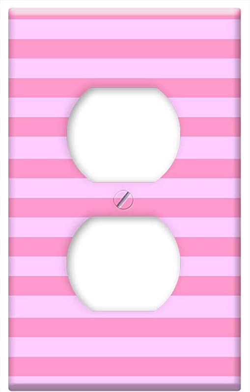 Switch Plate Outlet Cover Fabric Baby Pink Shades Pale Bright Design