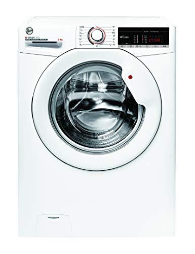 Hoover H-WASH 300 H3WS 495TE-S Waschmaschine / 9 kg / 1400 U/Min / Smarte Bedienung mit Wi-Fi und Bluetooth / ActiveSteam – Dampffunktion / Symbolblende