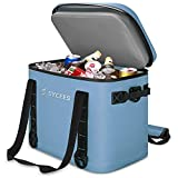 Cooler Bag,SYCEES 30 Cans Portable Leakproof Waterproof Insulated Soft Cooler Backpack for Camping, Fishing, Hiking, Golf, Picnics,Beach (Grey)