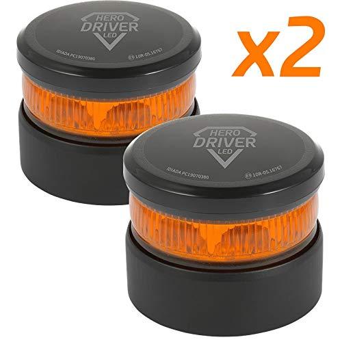 Hero Driver LED Luz Emergencia V16 Batería Litio Recargable Baliza Señalización DGT...
