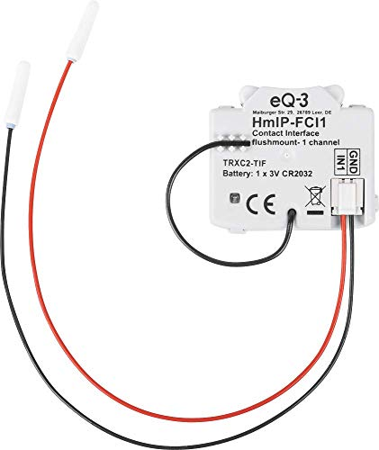 Homematic IP 153489A0 HmIP-FCI1 Kontakt-Schnittstelle, 3 V, Weiss