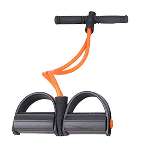 JJOnlineStore–Entrenador de bandas de resistencia Gimnasio Fuerza Entrenamiento Fitness elástico Ejercicio Pilates Belly barriga ABS Abdomen Pierna Pantorrilla muscular, color naranja
