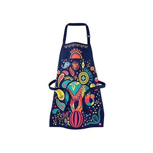 Winkler - Tablier de cuisine enfant Indi - 52×63 cm - Sangle ajustable - Blouse unisexe - Accessoire de protection - Déguisement pâtissier boulanger chef cuisinier - Multicolore