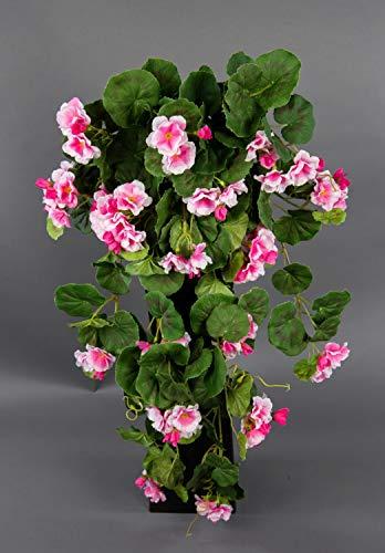 Seidenblumen Roß Geranienhänger 70cm rosa ZF Kunstpflanzen künstliche Geranie Kunstblumen Hängegeranie