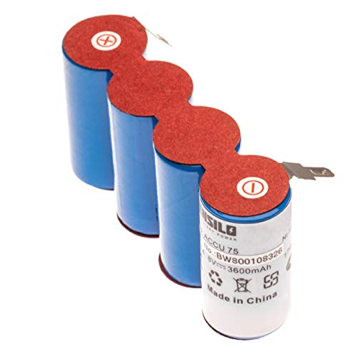 INTENSILO Ni-MH batería 3600mAh (4.8V) para Gardena podadora de césped, Tijeras cortacésped...