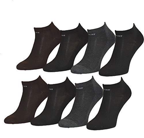 BestSale247, 12paia di calzini fantasmini da uomo, per sport e tempo libero, in cotone, taglia 39-42, 43-46, Modello 9., 39-42