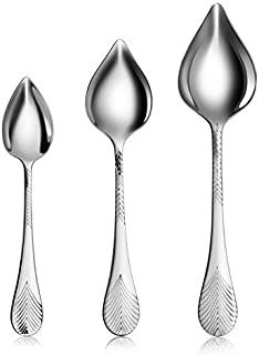 New Star Foodservice 1029031 Stainless Steel 18/10 Precision Drawing Decorating Spoons with Tapered Spout, Set of 3, 7-Inc...