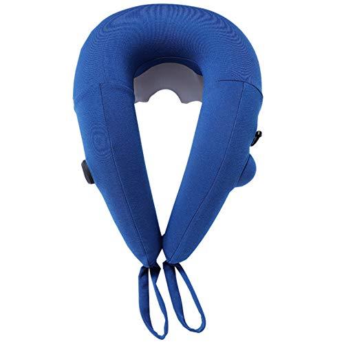 Fiunkes En Forma de U Almohada de Viaje, Amasar rotación Masaje Cuello Almohada, Compacto, Plegable Cervical masajeador para el Cuello rígido y Dolor de Alivio en Forma de U de la Ayuda del Cuello