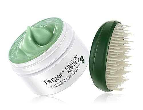 Farger Natural Argan Oil Hair Mask Deep Conditioning Treatment For Hair,Coconut Oil Intense Hydrating Hair Treatment Masks Frizz Hair mask Moisturize Hair Repair For Damaged Dry Hair 300ml 10.5FL OZ