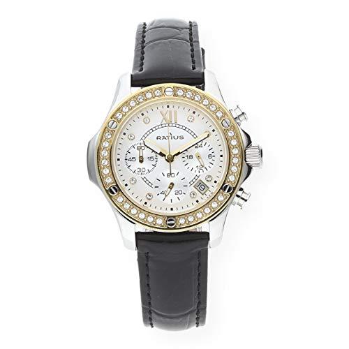 Ratius Damen Uhr 22.50900BI.25 Chronograph Leder