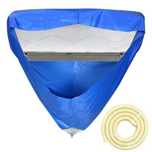 Aire acondicionado cobertura impermeable limpieza de la casa cubierta antipolvo con conexión de drenaje y tubo del agua aire acondicionado limpieza del agua cubierta impermeable 2 dimensiones