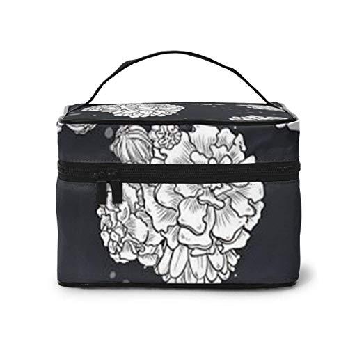 Bouquet de Fleurs de souci Voyage Maquillage Train Case Maquillage Cosmetic Case Organizer Portable Storage Bag