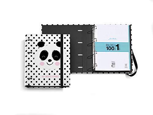 Carpe Bloc anillas de 35 mm - Jordi Labanda Panda Topos - Bloc A4 100 hojas