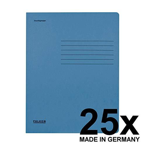 Original Falken 25er Pack Einschlagmappe. Made in Germany. Aus Recycling-Karton mit 3 Innenklappen für DIN A4 blau Juris-Mappe Sammelmappe Dokumentenmappe Aufbewahrungsmappe