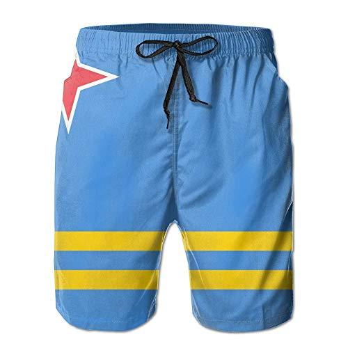 Aruba Vlag Mannen Strandkleding Shorts Strand Broeken Zwembroek Trunks