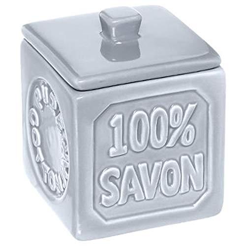 Paris Prix Instant d'O - Pot à Coton Céramique 100% Savon Bleu