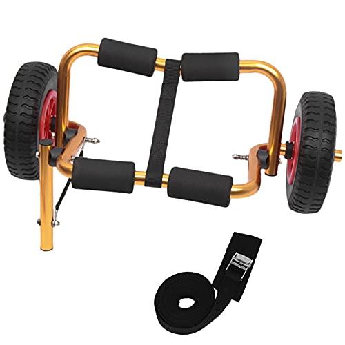 Reparación y Conversión Piezas KAYAK Portable Trolley Barco plegable Carrier de kayak Canoa Dolly Tote Tote Trolley Transporte ligero Carro de remolque Ruedas removibles Se utiliza para canoas y kayak