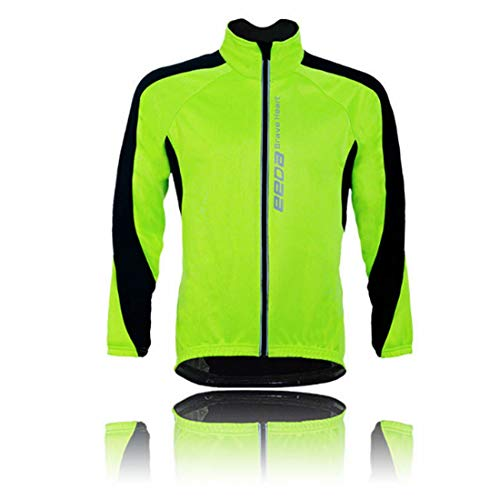 Veiligheid Vest Kleding Workwear Mannen Fietsen Reflecterende Jas Lange Mouw Hoge Zichtbaarheid Winddicht Windbreaker Running Jacket Wind Coat Mountainbike Jas Outdoor Sportswear Reflecterende Werk Vest Ru