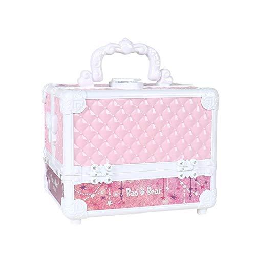 Children's Cosmetics Case,Princess Pretend Make Up Toy Set,Non-Toxic Washable Cosmetics Box,Starlight Party Princess Professional Suitcase