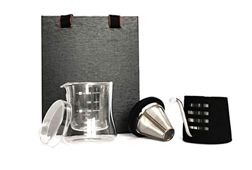 TEQ-ME Premium Coffee And Tea Lovers Pour Over Coffee Maker Set Stainless...