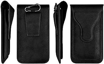 ELICA Black Texture Magnetic Waist Bag Holster Belt Clip Case with 2 Pocket for Infinix Zero 5 Pro