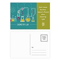 化学反応の化学ツール 詩のポストカードセットサンクスカード郵送側20個