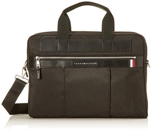 Tommy Hilfiger Herren SMU Elevated Nylon Computer Bag Laptop Tasche, Schwarz (Black), 1x1x1 cm