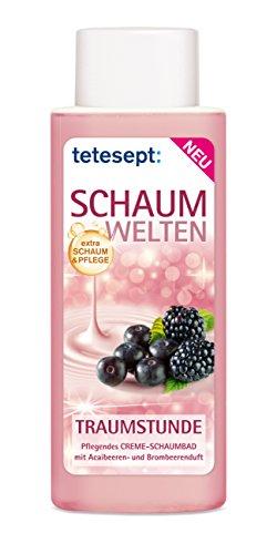 Tetesept Schaumwelten Traumstunde Creme-Schaumbad 400 ml, 5er Pack (5 x 400 ml)