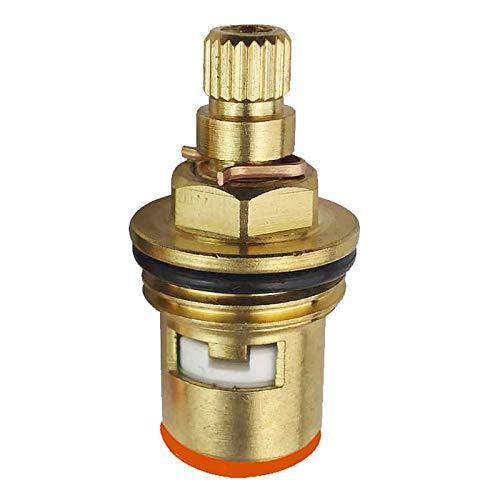 Válvula de repuesto para grifo de baño y cocina de 1/2 pulgadas, 20 engranajes, de cerámica, de cobre, para grifo de lavabo