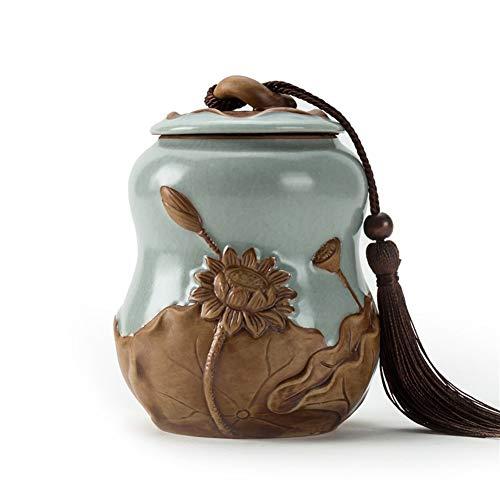 ZWSHOP Théière en céramique Thé noir Thé vert Emballage réservoir de stockage (Size : S)