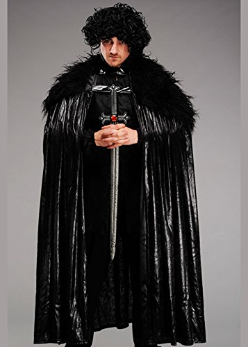 John Snow Style Black Manteau Hiver Eternel