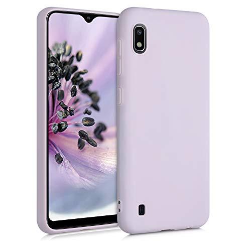 kwmobile Custodia Compatibile con Samsung Galaxy A10 - Cover in Silicone TPU - Back Case per Smartphone - Protezione Gommata Zucchero Filato