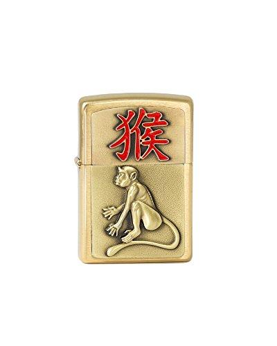 Zippo 2.004.786 Year of the Monkey 2016, , Brass gebürstet, Feuerzeug, 5.5 x 3,50 x 1,5 cm