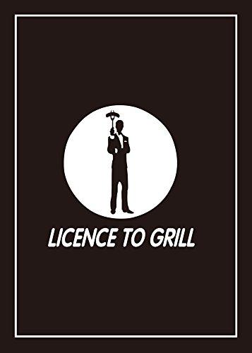 ICONIC APRONS Lot de 2 torchons Coton Noir 1 x et 1 x Licence to Grill barbecue règles pour homme