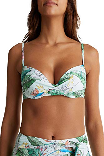 ESPRIT Bodywear Damen LILIAN BEACH padded bra mf Bikini, 390/LIGHT Aqua Green,80A