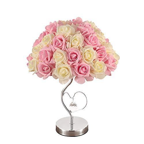 DKee Pink Study Room Dormitorio Wedding Room Gift Multicolor Rose Lámpara De Mesa Lámpara de Mesa